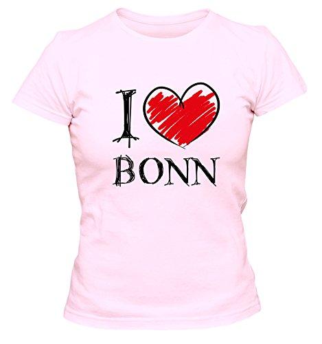 I Love Bochum Fun Damen T-Shirt, Größe:L;Farbe:rosa