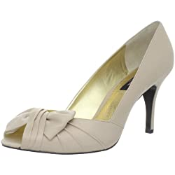 Nina Women s Forbes-Ls Peep-Toe Pump Powder Sand 5.5 B(M) US