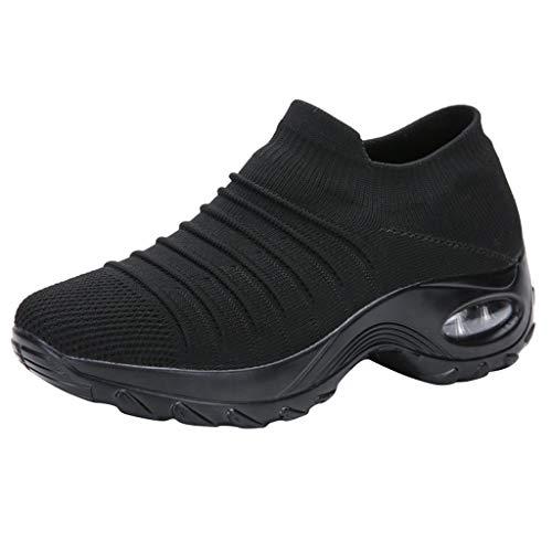 Smonke Mode Damen Mesh Freizeitschuhe Dicke Unterseite Schaukelschuh Student Working Sneaker Frauen Einfache Outdoor runde Kappe Flache Schuhe