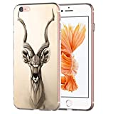 blitz versand germany Animal Head Tier Kopf Schutz Hülle Transparent TPU Cartoon Steinbock M13 iPhone 7/8