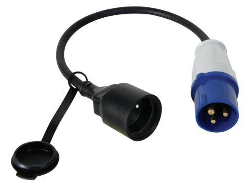 Perel ECEEC3M Kabel Kupplung auf Cee-Stecker, Länge 40 cm