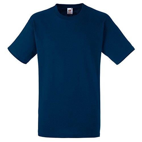 Fruite of the Loom Heavy T-Shirt, vers.Farben Navy Blau