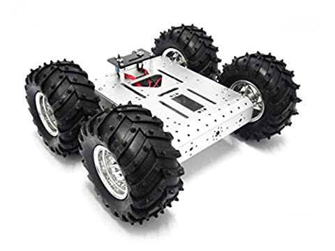 4WD Aluminum Mobile Robot Platform/This platform can be equipped with a variety of controllers, drives, sensors and wireless radio frequency modules, etc.