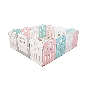 LIUFS-Playpens Children's Toy Fence Security Protection Center Indoor Playground Fence Kindergarten Fence Barrier (Size : 16 pieces)   4