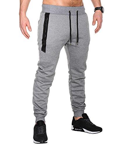 BetterStylz SlvrCatBZ Jogginghose Sportswear Tech Fleece Jogger Sweatpant 3 Farben (S-XXL) (X-Large, Grau Melange)