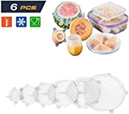 Solider 6 Pack Silicone Stretch Lids Silicone Stretch Fresh Food Cover BPA-Free Stretch Lid Various Sizes Stac