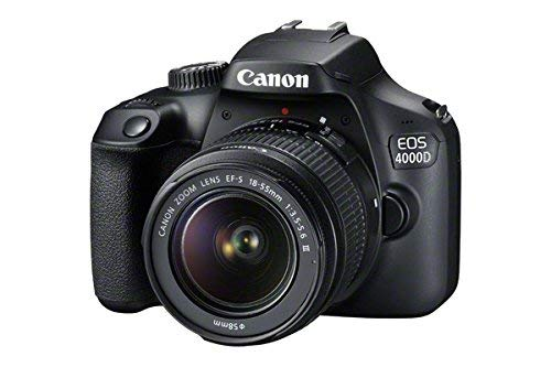 Canon EOS 4000D 18MP DSLR Camera and EF-S 18-55 mm f/3.5-5.6 III Lens with 64G Memory Card- Black