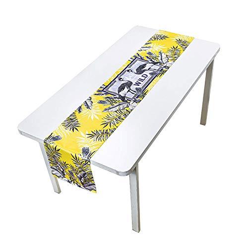 Jian E- Chemins de table - Rétro Jungle Plants Ins Table Cloth Minimaliste Moderne Table Basse Nappe Table Drapeau Meubles Décoratif Tissu Haute Restaurant Nappe (Couleur : D, taille : 30x220cm)