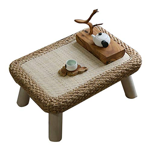 Tables De Lit Baie en Rotin Basse Balcon Tatami Petite Basse Basse Maison Lit Rectangulaire D'étude en Bois Massif