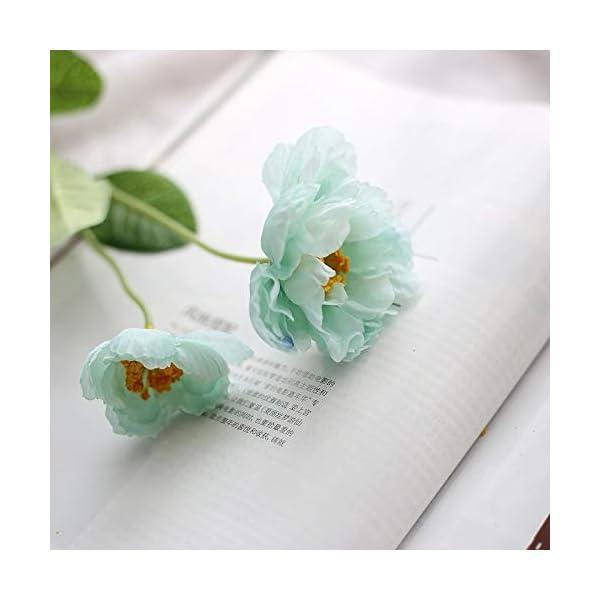 Bureze Flores Artificiales de Amapola de Seda para decoración del hogar, de la Marca Luyue