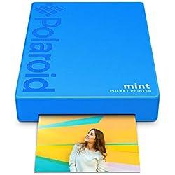 Polaroid Mint Imprimante avec technologie Zink Zero Printer Ink et Bluetooth intégré pour appareils Android et iOS - Bleu