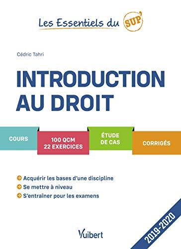 Introduction au droit 2019-2020 - Cours - QCM - Exercices - Corrigés