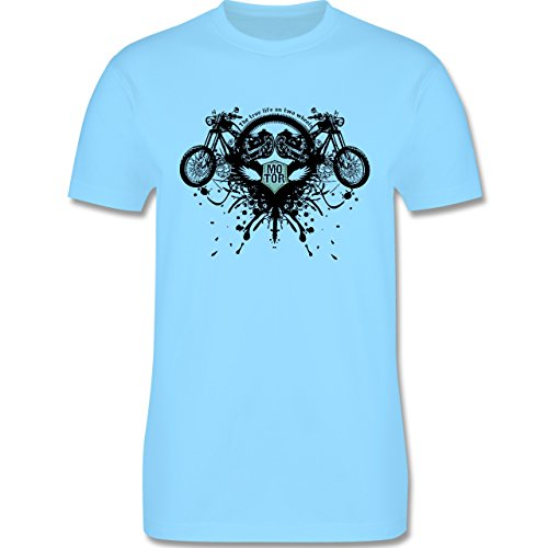 Motorräder - Biker - true life - Herren Premium T-Shirt Hellblau