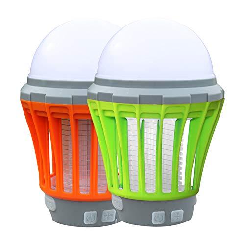 KroY PecoeD LED Camping Laterne Moskito Zapper, 2 in 1 IP67 wasserdicht und tragbar USB Lade LED Moskito Killer Zelt Licht Moskito Control für Reisen Camping Outdoor Wandern(2 Pack)
