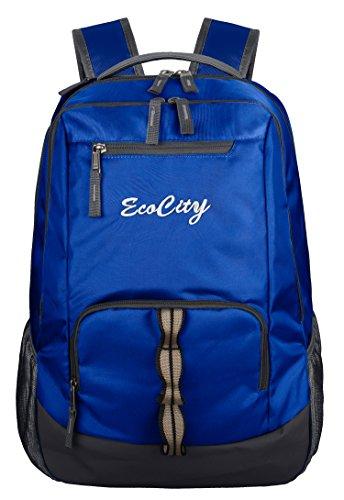 EcoCity Zaino Escursionismo Daypack Zaini Portatile sacchetto di scuola per uomini e (Blu Sacchetto Di Trasporto)