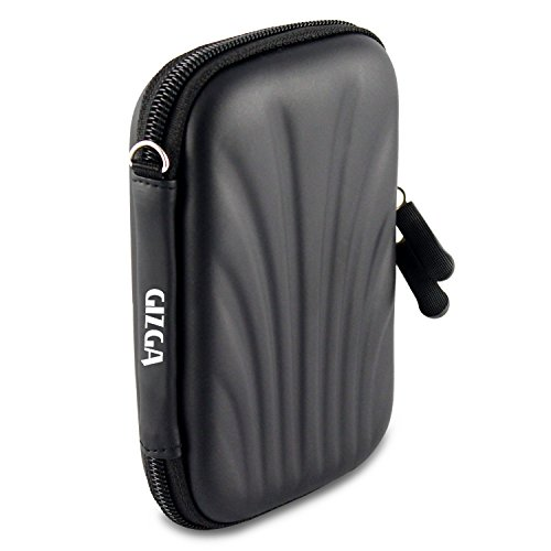 GIZGA Branded 2.5 inch SELF Tattoo SEMI HARD SHELL - Color: Black, External Portable Hard Disk Drive Carry Cover Protector/ Pouch / Bag/ HDD Case