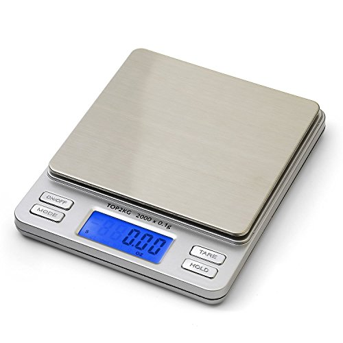 ULTRICS® 2000x0.1G Digital LCD Electronic Scale for Kitchen Postal Jewelery laboratory Strong and Slim Design