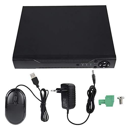 4 Kanal 1080N CCTV Recorder, NVR AHD TVI 4 Kanal DVR Videorekorder Überwachungs Kamera System mit Fernzugriffsalarminformationen Push - Schwarz (EU)
