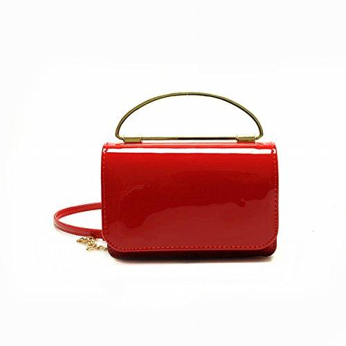 kleine frau Schulter messenger messenger Weibliche mode einfache farbe Kette mini-tasche Rot