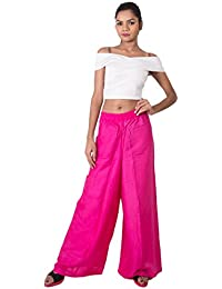 """Swastik Collections Slim Fit Ankle Length Flared Pink Colors, Waist 28 """" Inches Length 38 Inches, Soft Absoubents"""