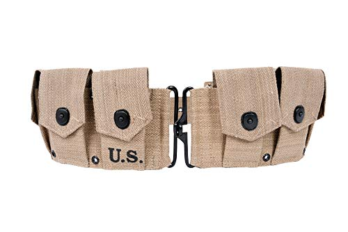 World War Replica US M1 Garand M1923 Cartridge Belt Will fit up to 48