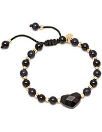 Lola Rose Larah Bracelet Black Agate and Blue Sandstone