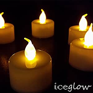 24 Flickering Candle Set Runs on Batteries Flickers Like a Real Candle Battery Operated Tealight Candles Flameless Candle Wedding Tea Light One Dozen Long Lasting Batterry Life