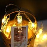 LED-Foto-Clip-Lichterkette - 20 Foto-Clips 3M Batteriebetriebene LED-Bilderleuchten Für Die Dekoration Hängendes Foto, Notizen, Artwork