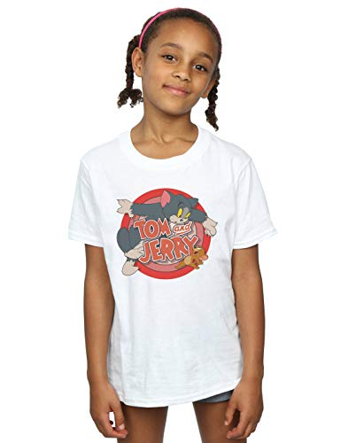 Tom and Jerry Mädchen Classic Catch T-Shirt 9-11 Years Weiß