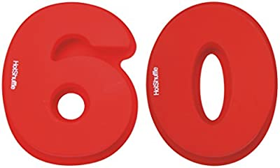 Large Silicone Number 60 Cake Tin Mould 60th Birthday Diamond Wedding Anniversary 6 0