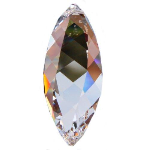 premium-kristall© Set: SWAROVSKI ELEMENTS TWIST 50mm - mit Laser endografiertem Logo - 1 Loch - Kristall Glas Objekt