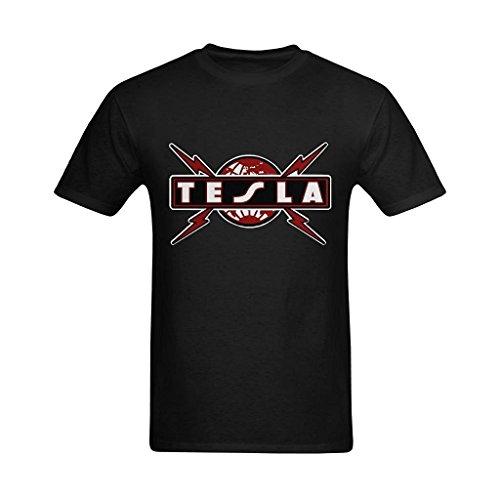 Herren's Tesla Band Rock T-shirt Medium (Tesla-band-shirt)
