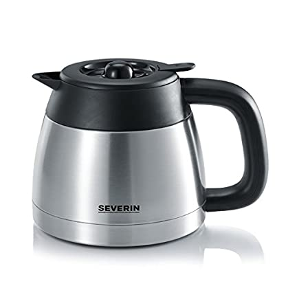 SEVERIN-Kaffeemaschine-Select-Fr-gemahlenen-Filterkaffee-8-Tassen-Inkl-Thermokanne-KA-4132-EdelstahlSchwarz