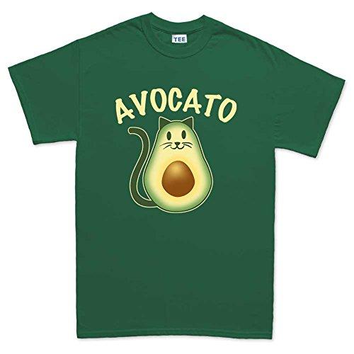 avocado-avocato-cat-kitten-kitty-pet-t-shirt-s-forest-green