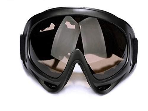 Lcxligang Radfahren Brille Sand-Schutzbrille, Mode Brille schwarzer Rahmen Bunte Linse (Color : C)
