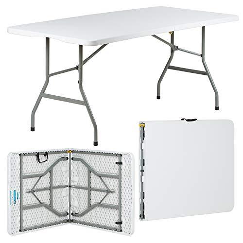 Mesa de comedor plegable, con 6 sillas.