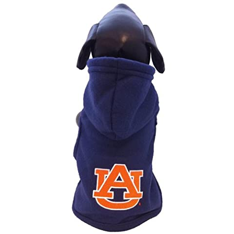 NCAA Auburn Tigers Polar Fleece Hund Hooded, unisex, navy,