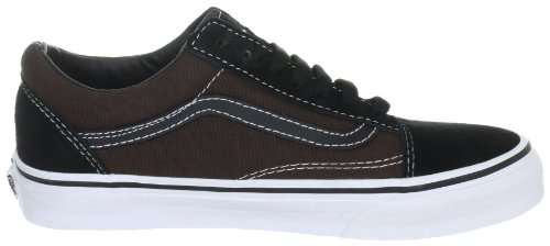 Vans Unisex Old Skool Sneaker, Schwarz (Black/Espresso/True White), 40 EU Schwarz (black/espresso/true white)