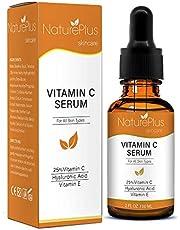 Vitamin C Serum für Ihr Gesicht mit 20% Vitamin C + Hyaluronsäure + Vitamin E + Jojobaöl