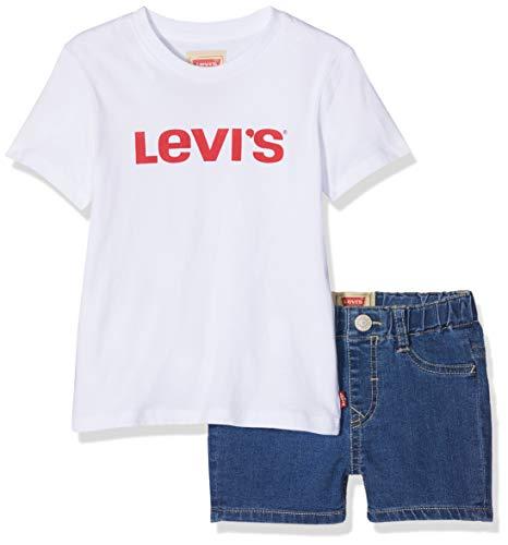 Levi's Kids Baby - Jungen Nn37004 99 Outfit Bekleidungsset, Mehrfarbig (Assortiment 99), 9-12 Monate (Herstellergröße: 12M) -