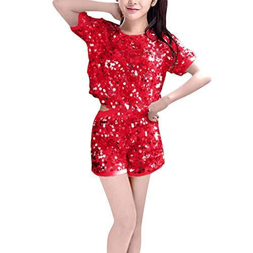 uirend Tanzsport Bekleidung Damen Kleider - Frauen Cheerleading Uniformen Anzüge Sets Musical Kostüm Kostüme Tanzen Jazz Modern Pailletten ()