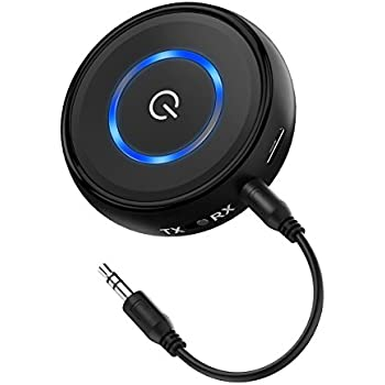 Bluetooth 4.1 Transmitter and Receiver (aptX Low Latency), Higoing 2-in-1 Portable Wireless Bluetooth Adapter with 3.5mm Jack Output for TV, PC, Phones, Home Stereo/Car Sound Systems etc.