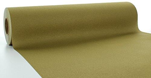 Sovie HORECA Linclass® Airlaid Tischläufer 40 cm x 24 m | Tischdecken-Rolle stoffähnlich | praktische Einmal-Tischdecke für Hochzeit oder Partys | Gold (Gold Tischdecke Stoff)