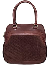 Klasse Women Tan Genuine Leather Hand Bag