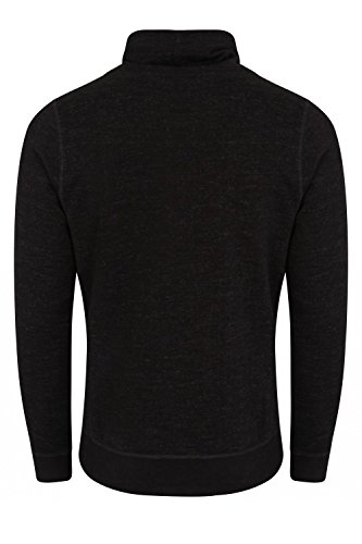 Tokyo Laundry Herren Collegejacke Sweatshirt blau blau Small Charcoal Grey Marl
