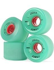 JUCKER HAWAII Ruedas para Longboard / Skateboard / Mini Cruiser Slide Wheels FOAM BALLS 65mm 80A Verde