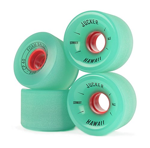 JUCKER HAWAII Longboard Rollen/Wheels STREETBALLS - Foam Balls Green -