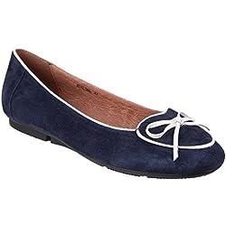 Riva Adalina Slip on Ladies Pump Shoe Navy / White - 38