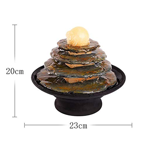 GL-Indoor fountain Serenity Cascading Rock Water Feature Innenbrunnen -