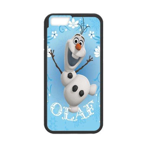 """Disney Frozen, Elsa, Anna, Olaf Étui en silicone TPU Coque de protection pour iPhone 6(4,7""""inch) Étui avec Screen Protector, Mobile Phone Case Back Cover Blanc Noir for iPhone 66S (4"""